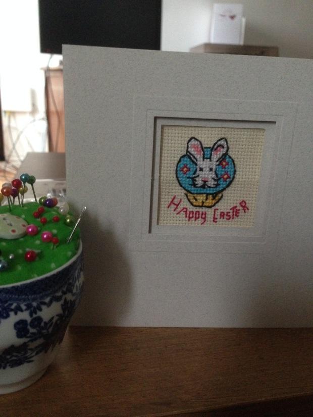 In a card