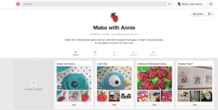 Make with Annie Pinterest
