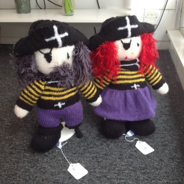 Hand knitted Mr and Mrs Pirate £20 each