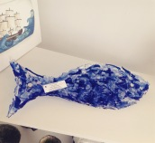 Blue Fused Glass fish from £45