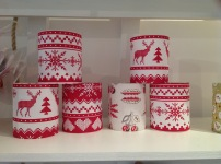 Fabric Covered Christmas Tea light lanterns £12