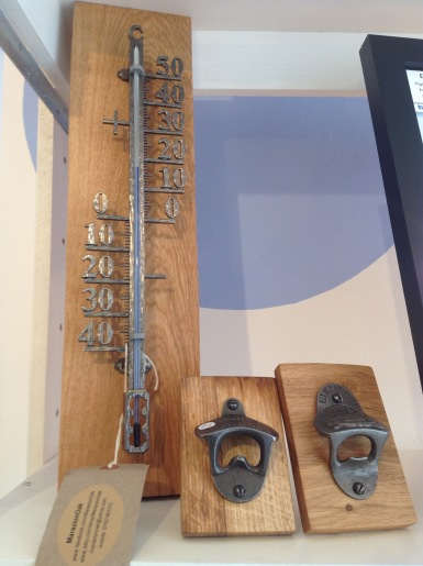 Oak Filigree thermometer £30, Oak cast iron Bottle openers £15
