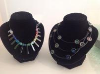 Hematite bar necklace £10, circle necklace £12