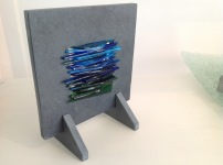 Fractured glass in slate £45