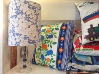 Vintage lampshade £32, Vintage cushion covers from £12