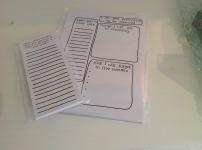 Notepad £4, list maker £3.50
