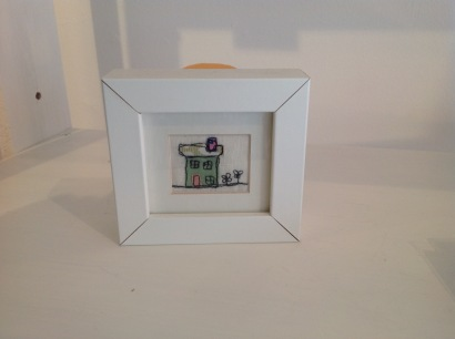 Hand stitched house £12