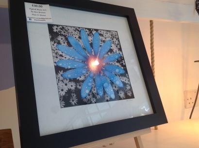 Framed flower art work £30