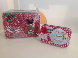 Handmade christmas gift tins from £5