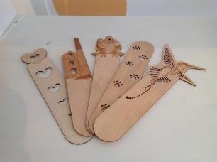 Lazer cut wooden bookmarks £5 each