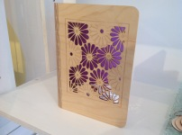Lazer cut wooden book cover including notebook £35