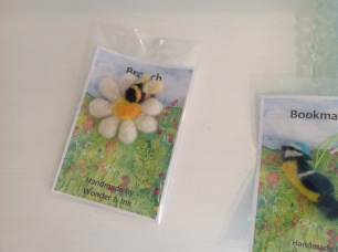 Needle felted brooches £14