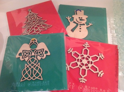 Wooden embellished Christmas cards £5 each