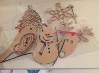 Lazer cut wooden Christmas Decorations £3.50 each
