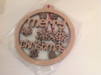 Paint your own Christmas decorations £5
