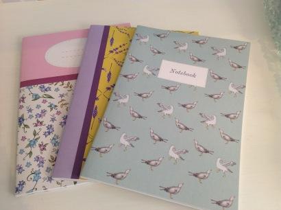 Notebooks £2.50 each