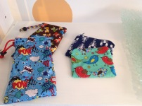 Funky fabric glasses cases £4.50, purses £3