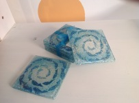 Fused glass coasters £6 each or 4 for £20