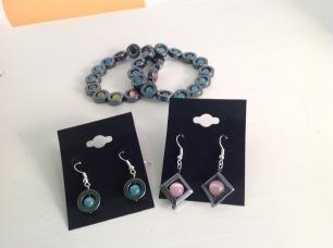 Hematite Bracelets £3 each, Earrings £3 each