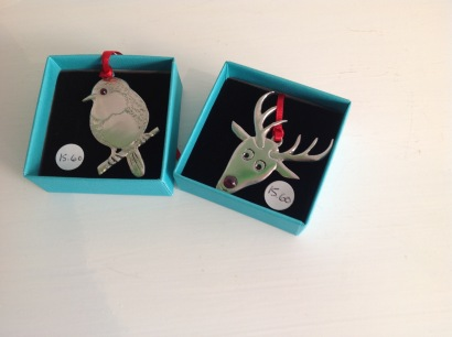 Pewter Christmas decorations from £15
