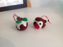 Needle Felted Christmas Decorations £4 each or 3 for £10