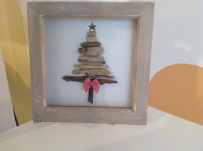 Framed driftwood Christmas Tree £14