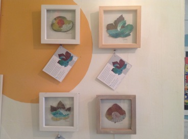 Handprinted leaves and stones from £22 each