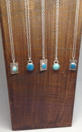 Silver turquoise necklace from £24