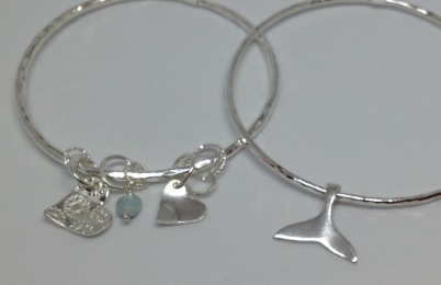 Silver bangles from £36