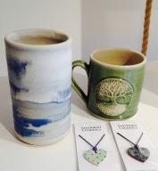 Ceramic Vase £ , Tree of life mug £11.99, ceramic pendant £4.99