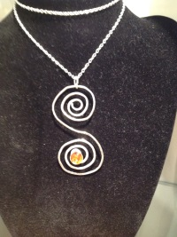 Silver wire necklace £40