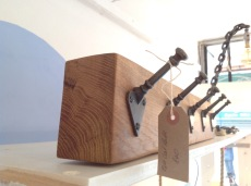 Oak coat rack £30