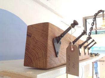 Oak coat rack £30