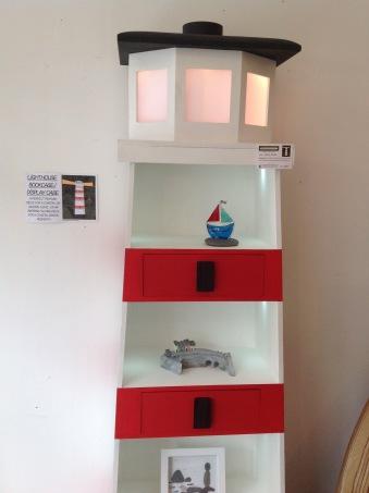 Lighthouse bookshelf and light £995