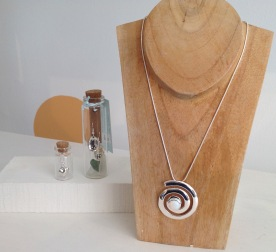 Silver plated earrings from £4, silver plated opal necklace from £26