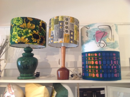 Vintage fabric lampshades from £25