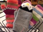 Knitted Penguin gloves £15