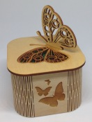 Wooden butterfly box £25