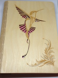 Wooden book cover £35
