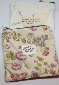 Vintage fabric zip pouch £9