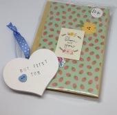 Wooden heart £2, notebook £3.50