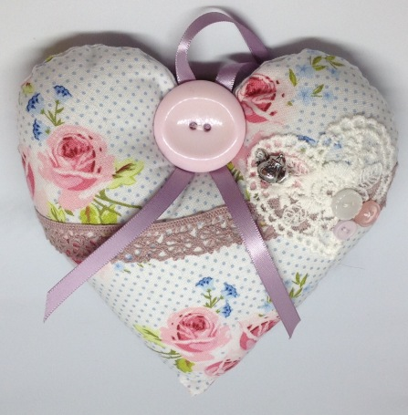 Fabric hearts from £3