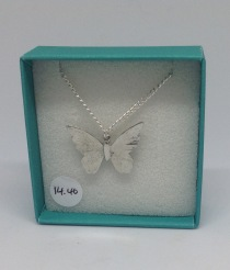 Pewter butterfly necklace £14.40
