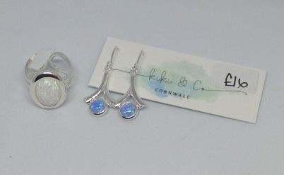 Silver plated wishbone earrings £16