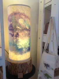 Lamp with wooden base £90