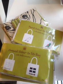 Colour in tote bags £4
