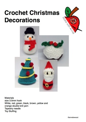 Crochet your own Christmas Decorations from £1.50
