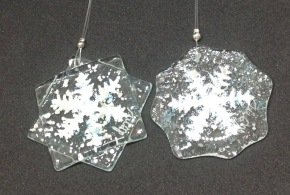 Fused glass snowflakes from £5