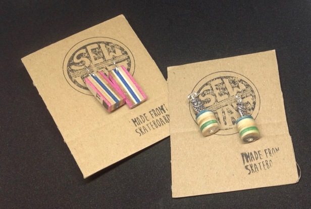 Skateboard earrings from £5