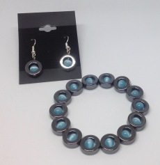 Hematite earrings and necklace £3 each or buy two for £5